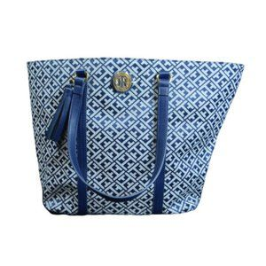 Tommy Hilfiger TH Purse Large Blue Tote NEW